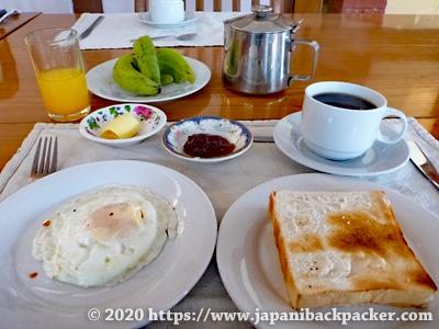 ミャンマー ホテルの朝食
