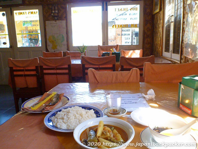 ミャンマーの定食