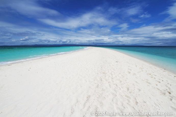 カランガマン島の砂洲
