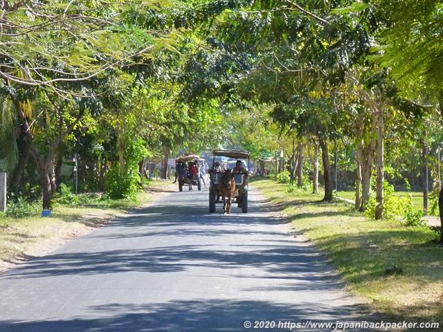 ロンボク島の馬車