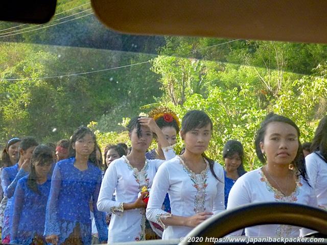 ロンボク島の女性
