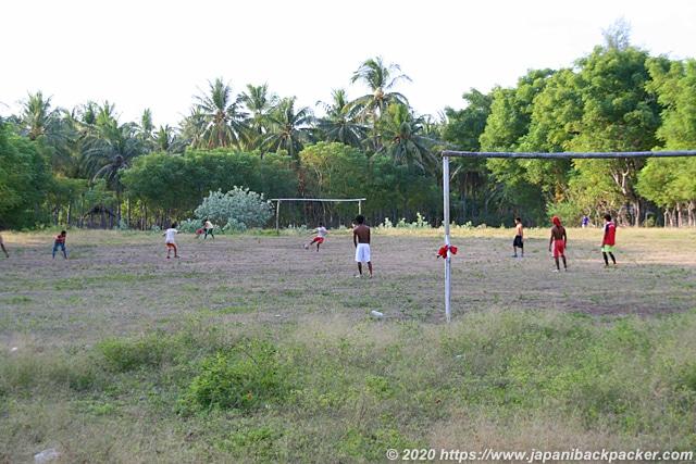 ギリメノ島のサッカー試合