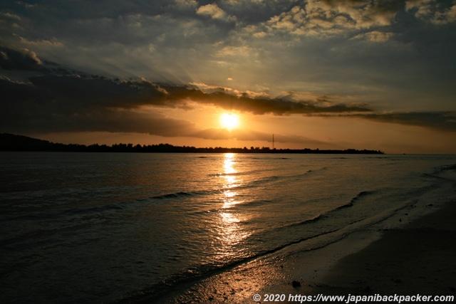 ギリメノ島の夕日