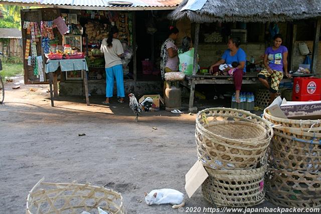 ギリメノ島 猫と商店