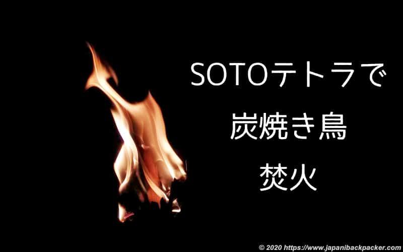 SOTOテトラのミニ焚火