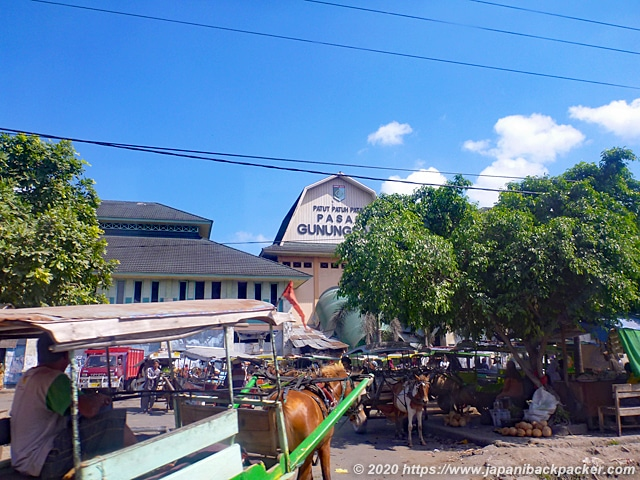 ロンボク島の市場