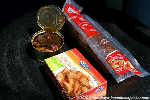 スペインの缶詰、サラミ
