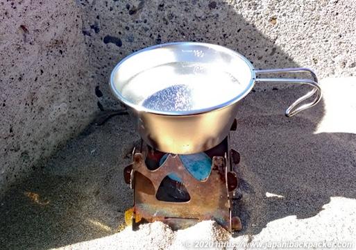 SOTOテトラで湯沸かし
