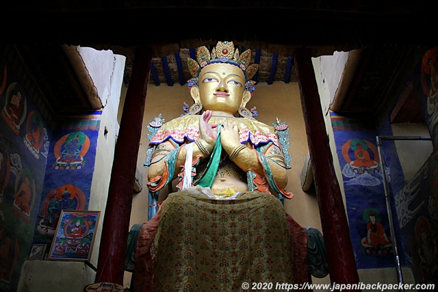 ナムギャル・ツェモ僧院の仏像