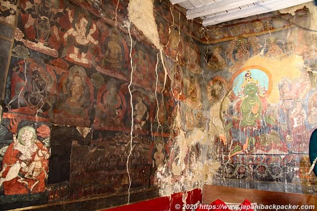 ナムギャル・ツェモ僧院 壁画