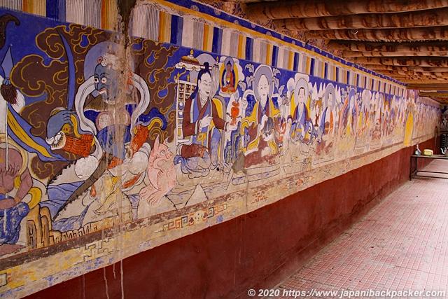 タクトクゴンパ 壁画