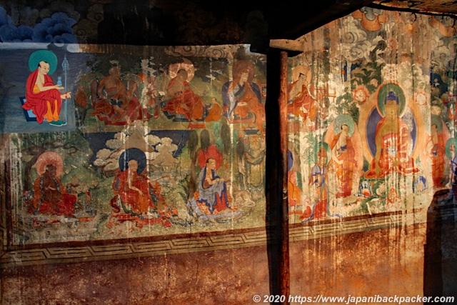 スタクナゴンパ 壁画