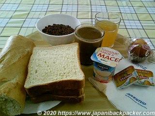 セゴビアのユースホステル 朝食