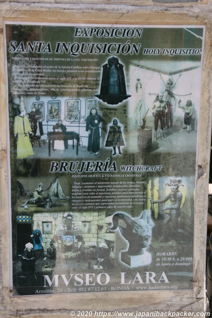スペイン 拷問博物館のポスター