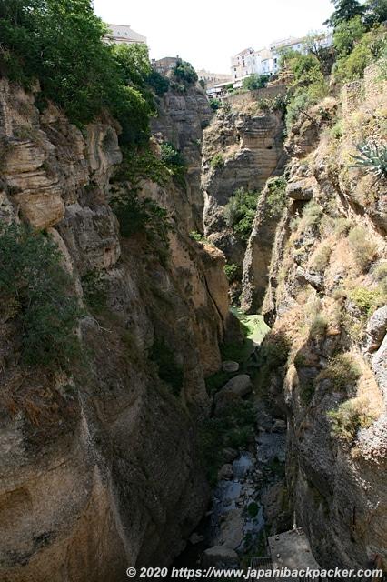 スペイン ロンダ エル・タホ渓谷 グアダレヴィン川