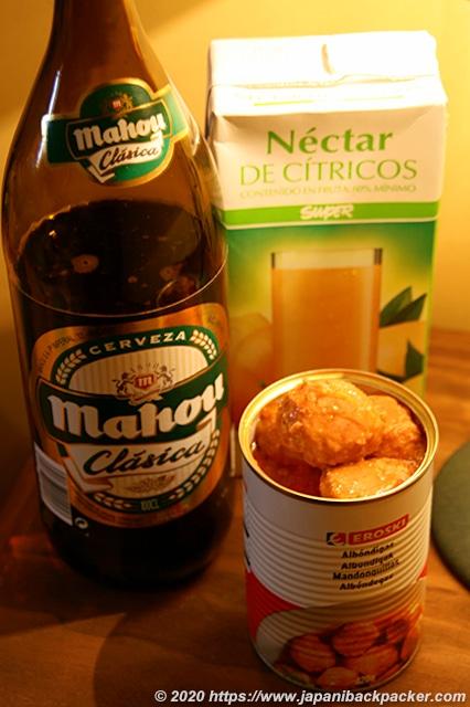 スペインのビール、缶詰