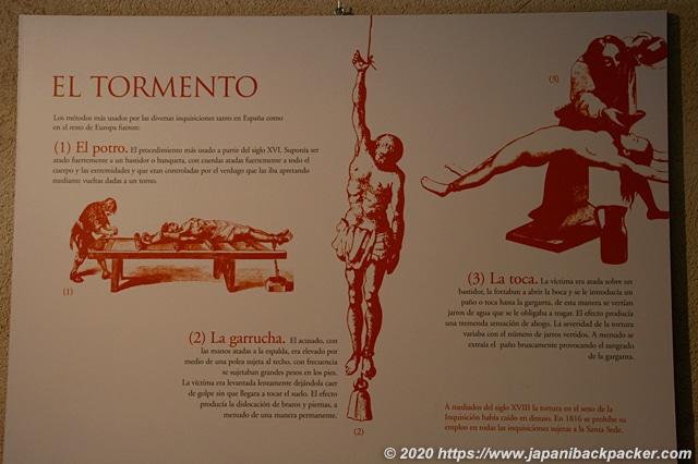 スペイン 拷問方法の図