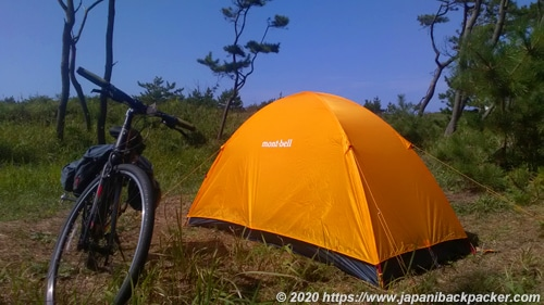 自転車キャンプ テント