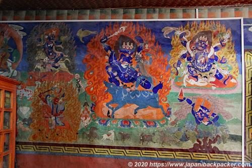 リゾンゴンパ 壁画