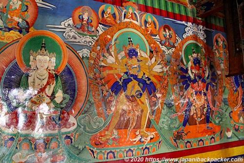 リキルゴンパ 壁画