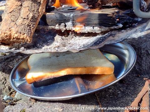 焚火トースト